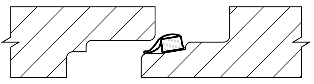 Lamell-Gasket position prior to joint connection