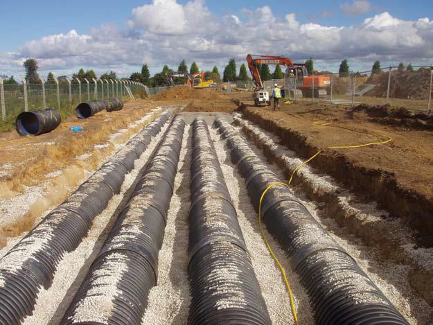 Structural Corrugated Twinwall-Surface Water Infiltration Systems