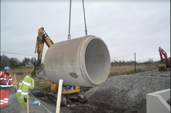 laying pipe installation
